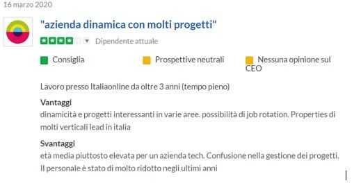 recensioni positive italiaonline