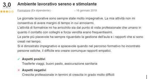 recensione positiva e negativa italiaonline