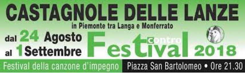 """Featival contro 2018 Castagnole delle Lanze (At) """"Festival della Canzone d'impegno"""""""