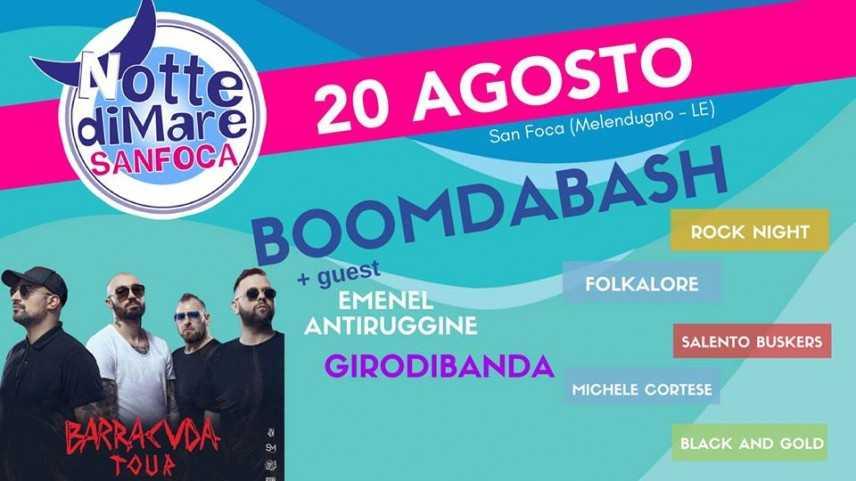 La Notte di Mare di San Foca torna il 20 agosto con BoomdaBash e GirodiBanda