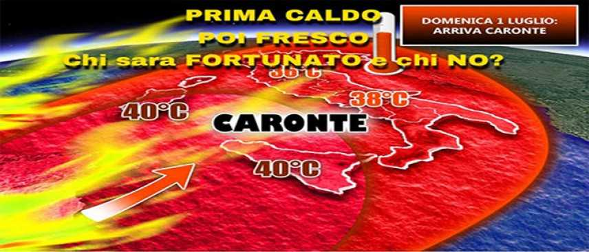 Meteo: Dal weekend caldo africano Caronte, a 38°-40° gradi,  previsioni su Nord, Centro, Sud e Isole