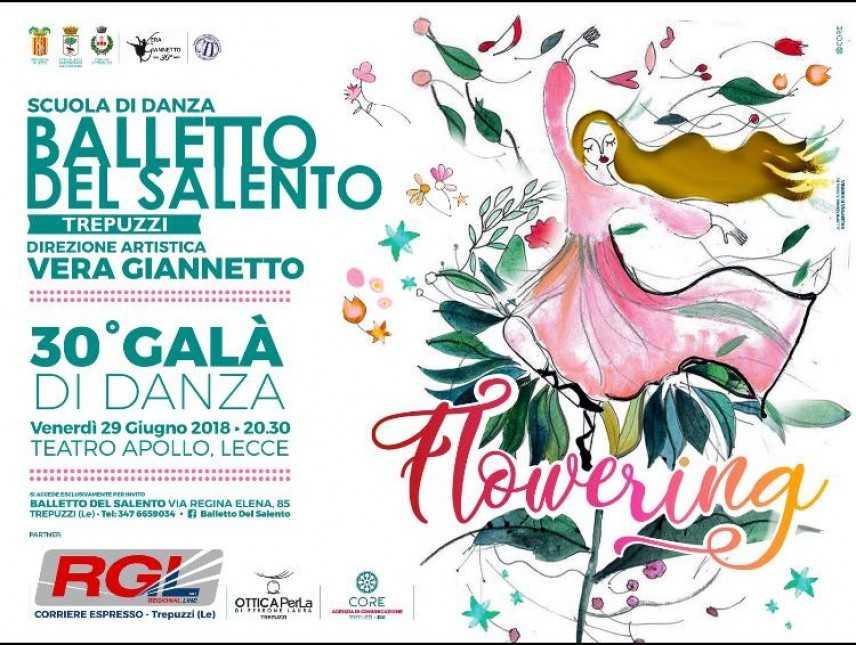 """Il 30esimo anno del Balletto del Salento: """"Flowering"""" in scena al Teatro Apollo"""