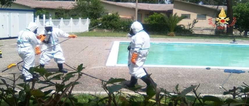 """Matera """"Allarme Rosso"""" Interventi di tipo Nucleare/Radiologico dei vigili del fuoco (Foto)"""