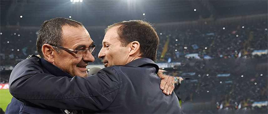 """Calcio Allegri """"restiamo in vantaggio e ora ci divertiamo noi"""" """"Sarri, Juve favorita"""""""