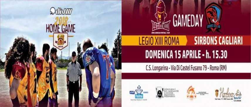 Fidaf: La Legio XIII domenica ospita i Sirbons Cagliari