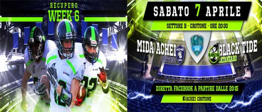 Football Americano: Il derby del sabato sera per i Black Tide Catanzaro