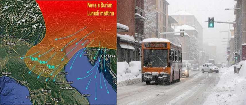 Meteo: Burian 2, allarme neve, ecco le previsioni su Nord, Centro, Sud e Isole