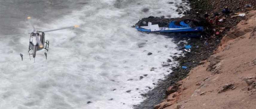 Perù, bus finisce in un burrone. 48 vittime accertate