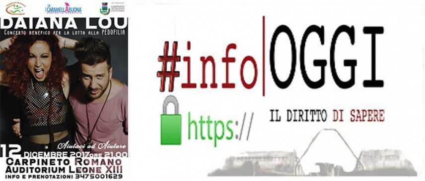 Carpineto Romano, il 12 dicembre concerto benefico per la lotta alla Pedofilia