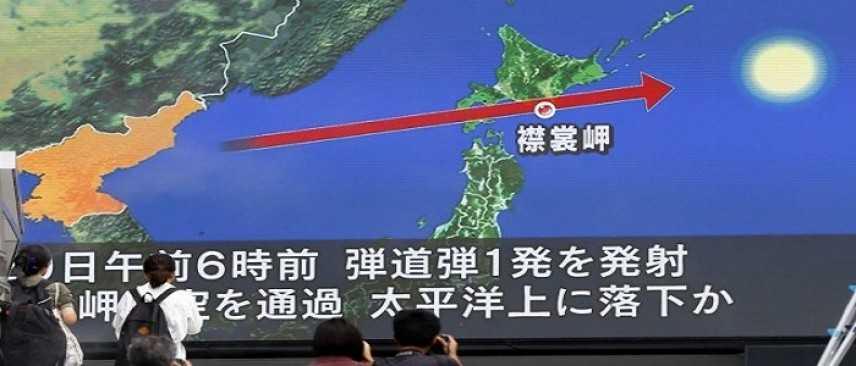 Corea del Nord lancia nuovo missile che sorvola spazio aereo del Giappone