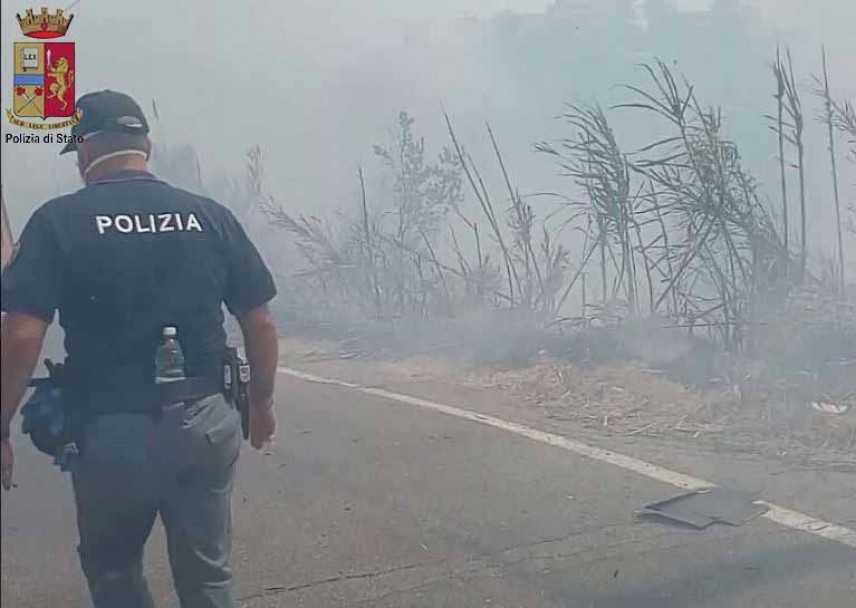 Incendio a Messina: fermati tre minori