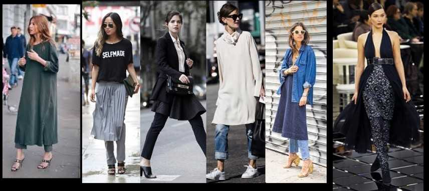 Nuovo trend outfit: la gonna sui pantaloni. Idee e consigli