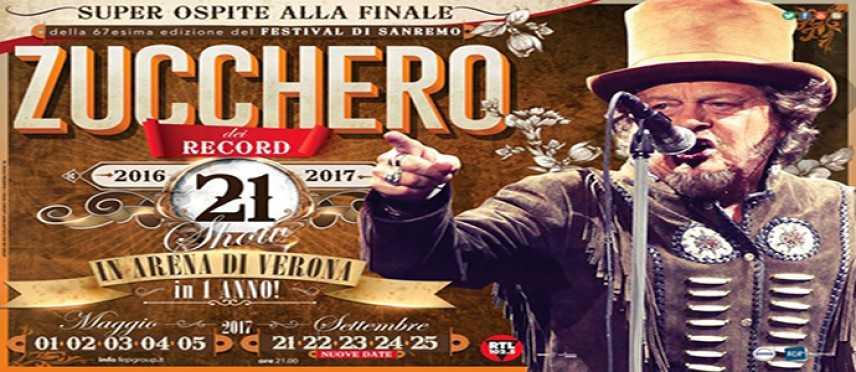 """Zucchero """"Sugar"""" Fornaciari al Festival di Sanremo. Ecco tutte le date ufficiali"""