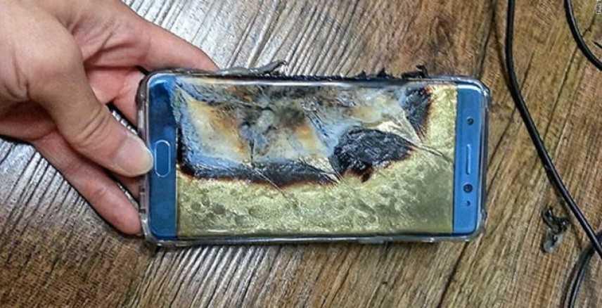 Samsung: le batterie, causa degli incendi del Galaxy Note 7