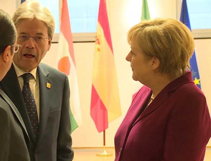 Vertice Gentiloni Merkel a Berlino