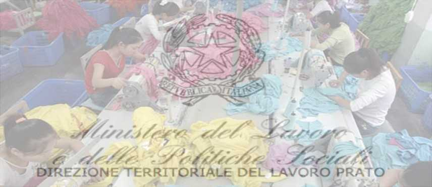 """Lavoro Nero: L'Ispettorato di Prato: """"interforze, di contrasto al lavoro nero e clandestino"""""""