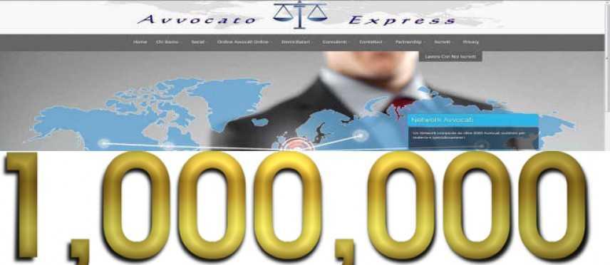 Avvocato Express: superato il milione di pagine visitate