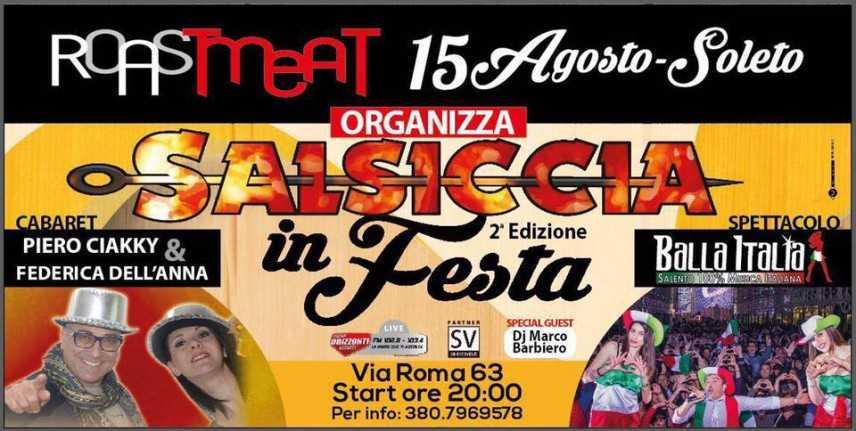 """Ferragosto con """"Salsiccia in Festa"""": il Roast Meat di Soleto organizza la 2° edizione"""