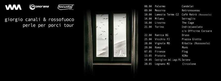 Giorgio Canali & Rossofuoco live per la prima volta in Sicilia