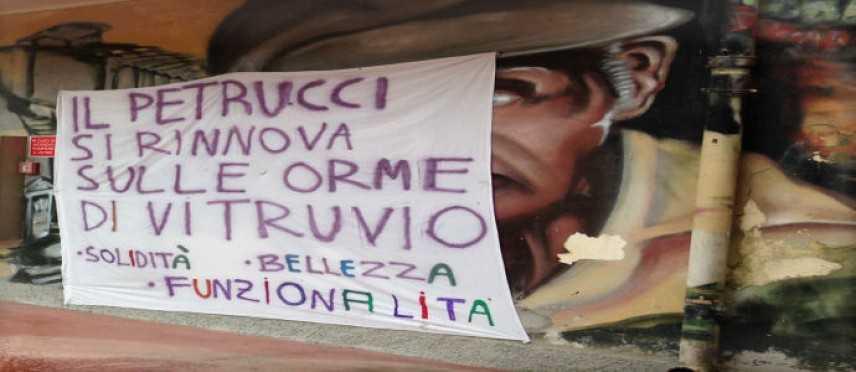 """""""Operazione scuole pulite"""", il Petrucci si rinnova sulle orme di Vitruvio [Foto]"""