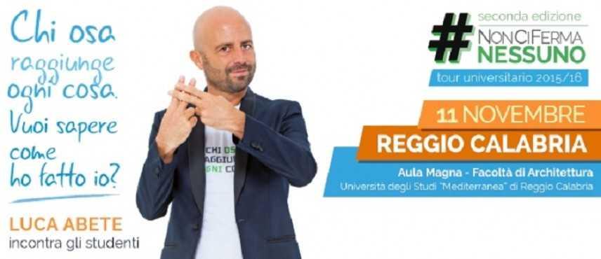 Il Tour #NonCiFermaNessuno, con Luca Abete, fa tappa a Reggio Calabria