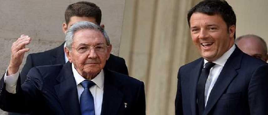 """Renzi a l'Havana: """"l'Italia crede nella ripresa. Rivolgo forte invito a investire a Cuba"""""""