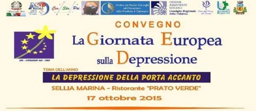 """Sellia Marina (CZ), il 17 ottobre si celebra """"La Giornata Europea sulla depressione"""""""