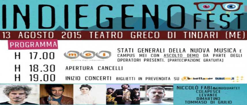 Indiegeno Fest, ad agosto nel Teatro Greco di Tindari