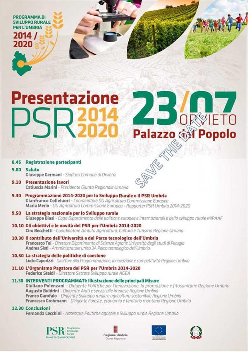 Orvieto, nuovo programma sviluppo rurale 2014-2020
