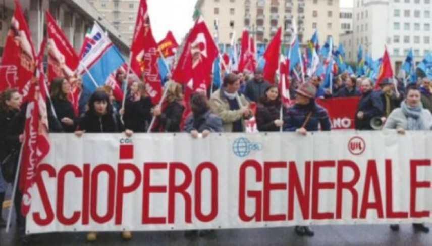 L'Italia si ferma, è sciopero generale. Cgil e Uil contro il Jobs act