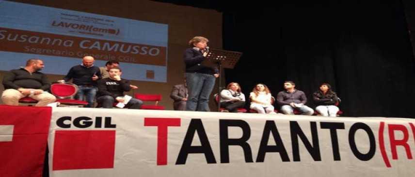 Camusso all'Ilva di Taranto: nel frattempo, riparte la giunta Stefano