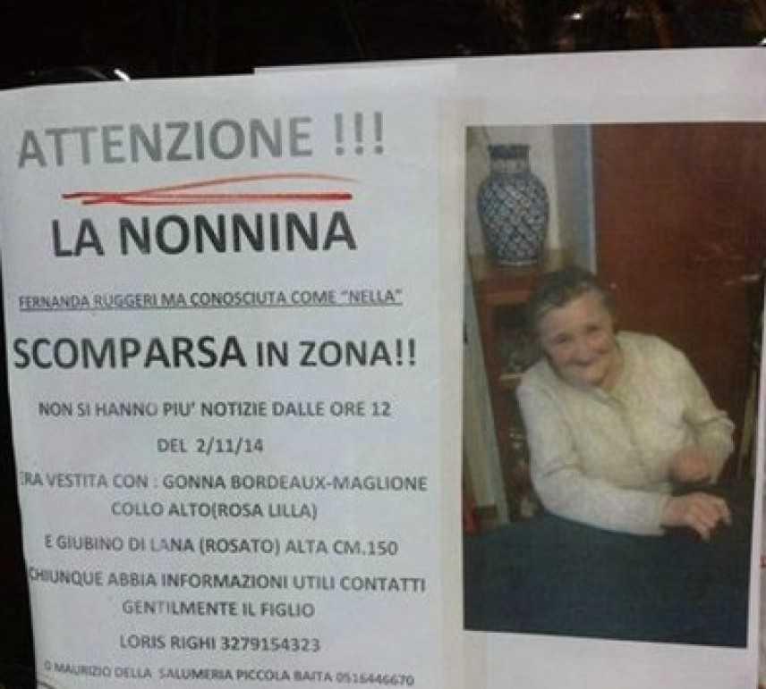 """Bologna, scomparsa Fernanda (detta Nella) Ruggieri: è la """"nonnina"""" di Porta Saragozza"""