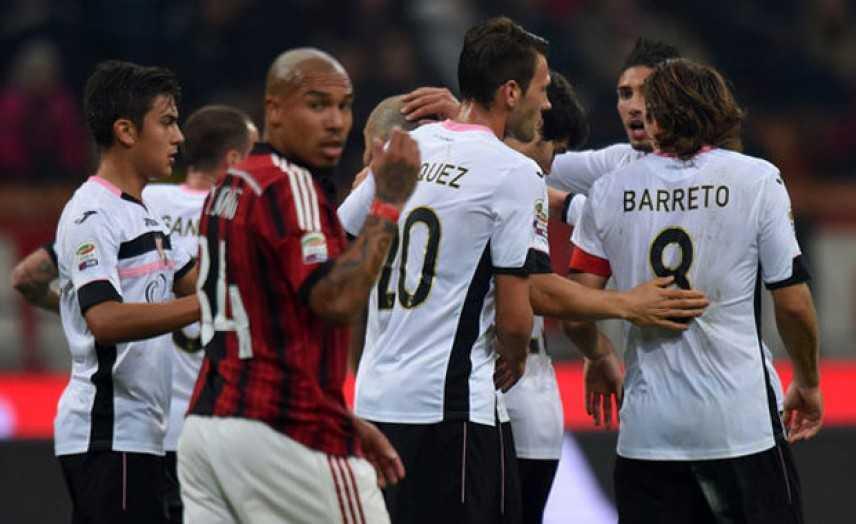 Serie A: il Palermo trionfa a San Siro con uno 0-2
