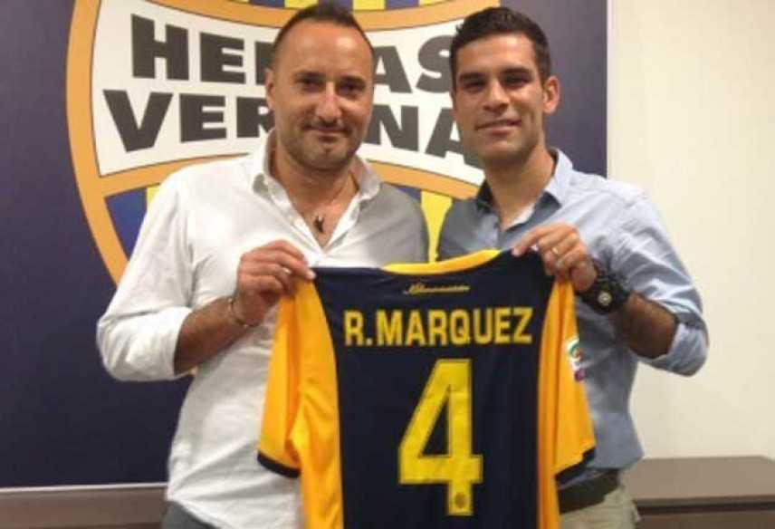Hellas Verona, concuso l'acquisto di Rafa Marquez: sarà il numero 4