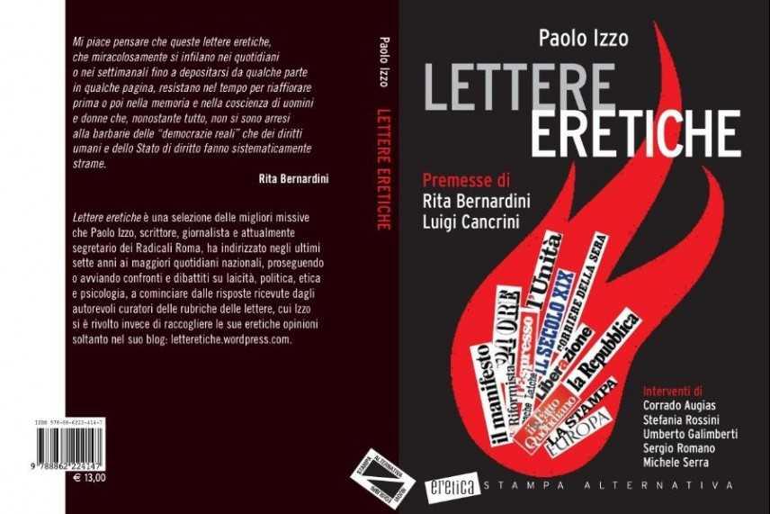 """""""Lettere eretiche""""; il nuovo libro di Paolo Izzo"""