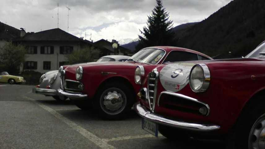 La 500 Miglia Touring passa il Tonale e ferma a Trento