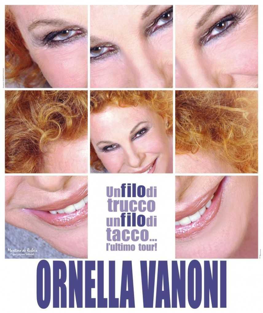 Il 27 Febbraio parte l'ultima tournée di Ornella Vanoni: Un filo di trucco, un filo di taccco