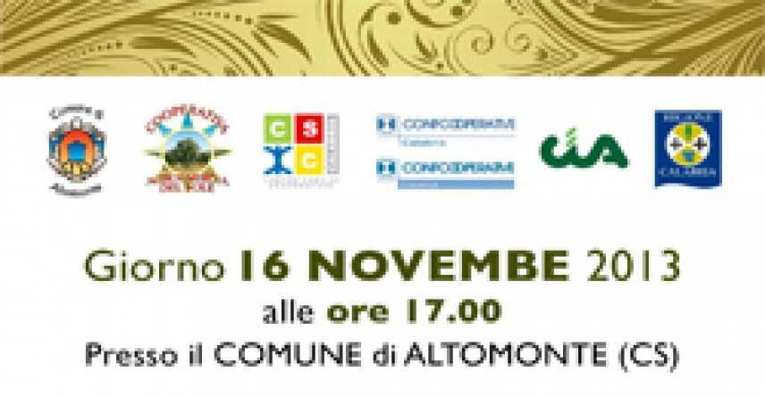 Altomonte, Aiutare i giovani a crearsi un posto di lavoro