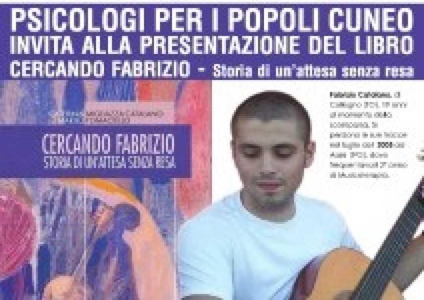 """8 Novembre, Borgo San Dalmazzo, Cuneo: presentazione del libro """"Cercando Fabrizio"""""""