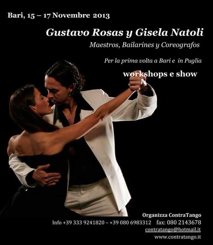 Gustavo Rosas e Gisela Natoli a Bari con Contratango