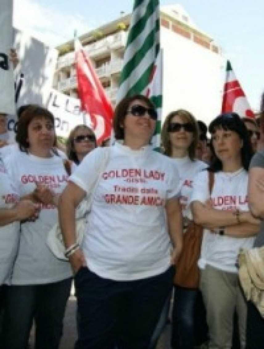 Golden lady: scade la cassa integrazione, via alle proteste