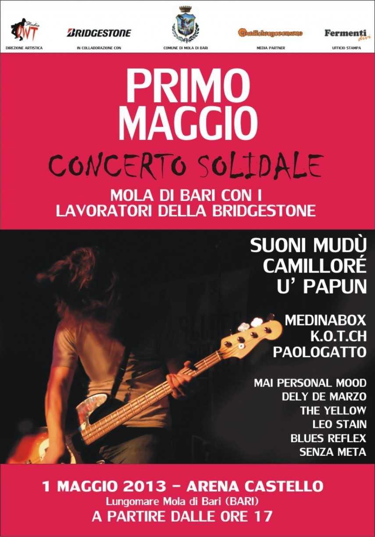 """""""Concerto solidale"""" del primo maggio. Mola di Bari, palme e festa"""
