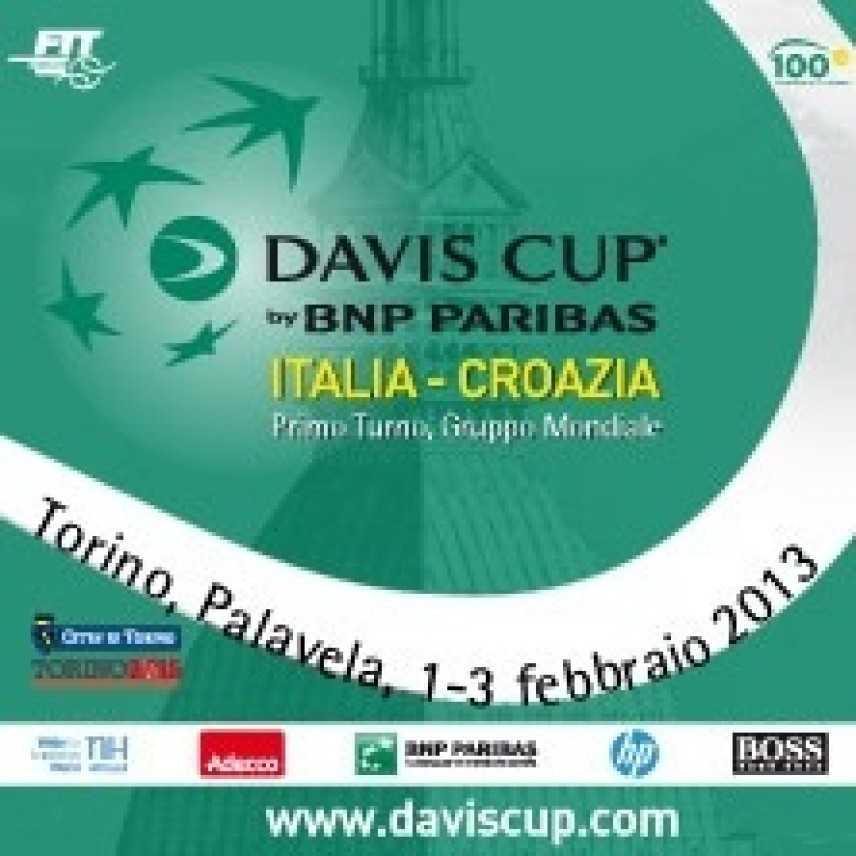 Tennis, Coppa Davis a Torino: 1, 2 e 3 Febbraio sarà il turno di Italia e Croazia