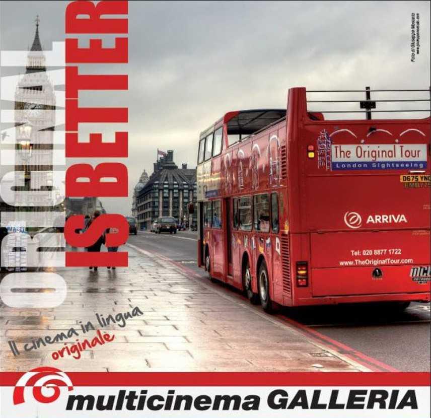 Original is Better: il cinema in lingua originale al Galleria di Bari