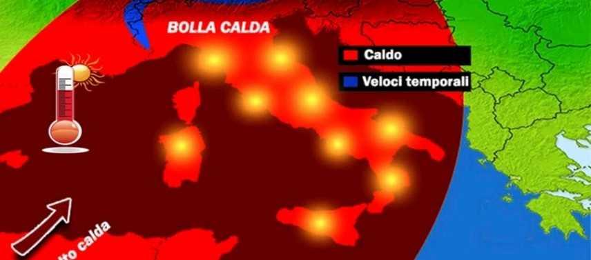 """Meteo: arriva una """"folle Estate"""" quasi come con Caronte previsioni si Nord, Centro, Sud e Isole"""