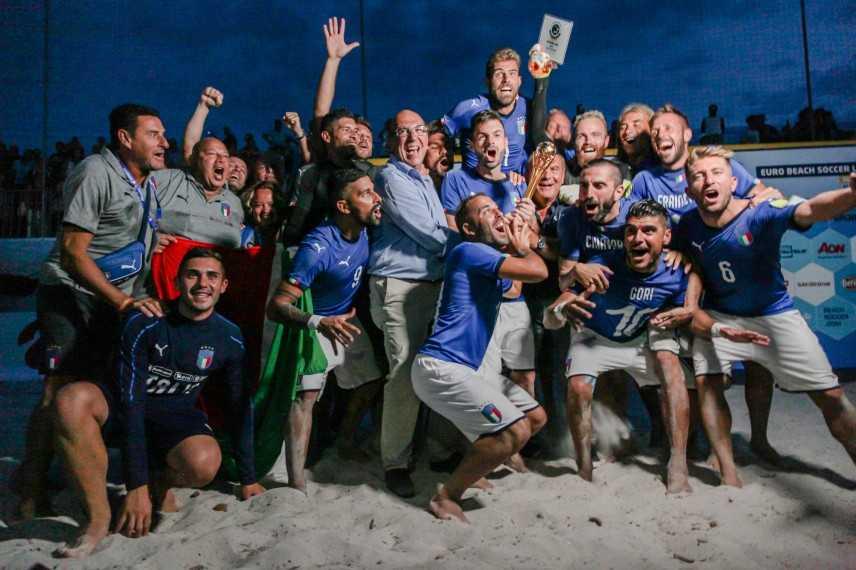 """Superfinal di Beach Soccer: L""""Italia è campione d""""Europa"""