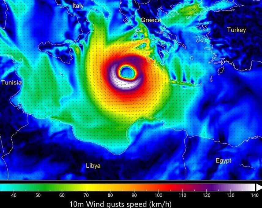 Allerta Meteo: Il 1° Uragano della storia del mediterraneo, previsioni su Nord, Centro, Sud e Isole