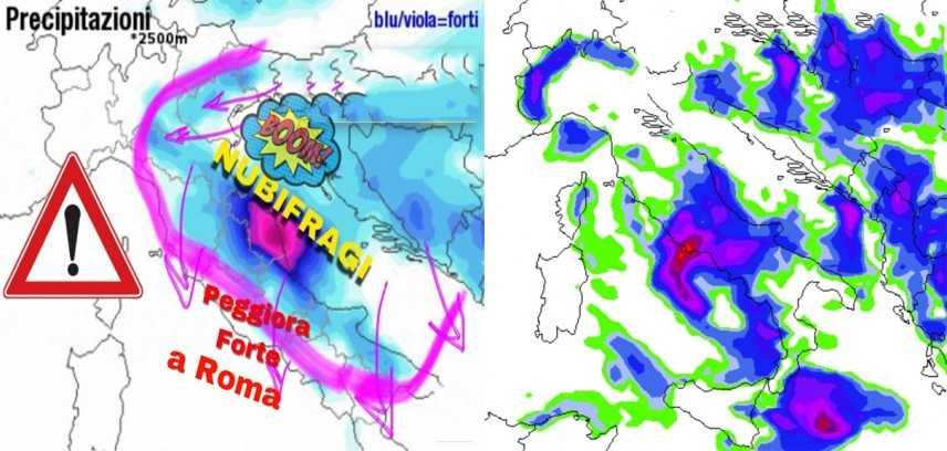 Meteo: supercelle con crollo termico, nubifragi, previsioni su Nord, Centro, Sud e Isole