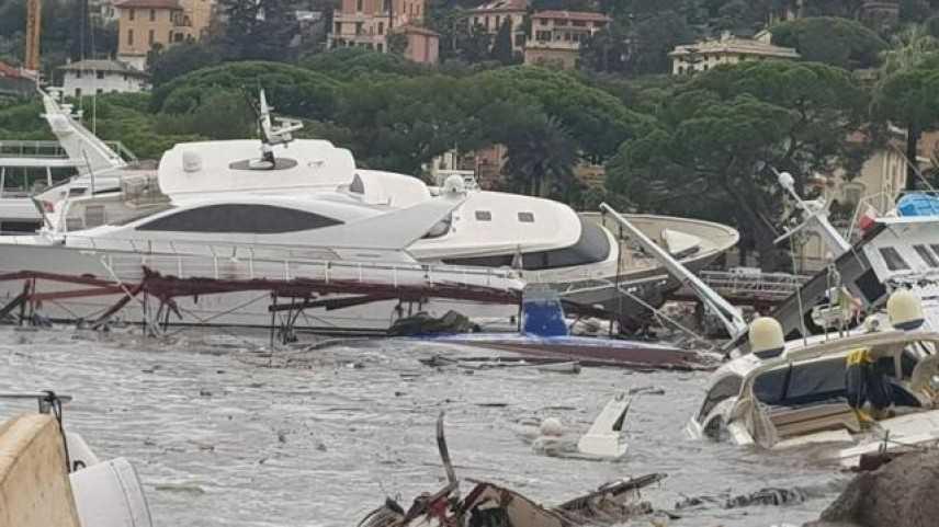 Maltempo: allarme carburante da yacht affondati a Rapallo