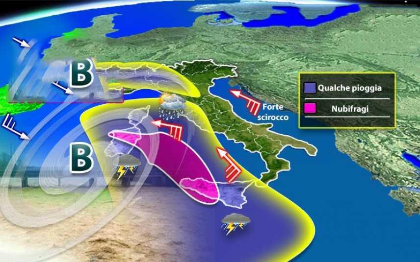 Meteo: Allerta arriva dal mare, ciclone incontenibile previsioni su Nord, Centro, Sud e Isole